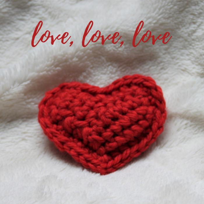 cœur rouge au crochet