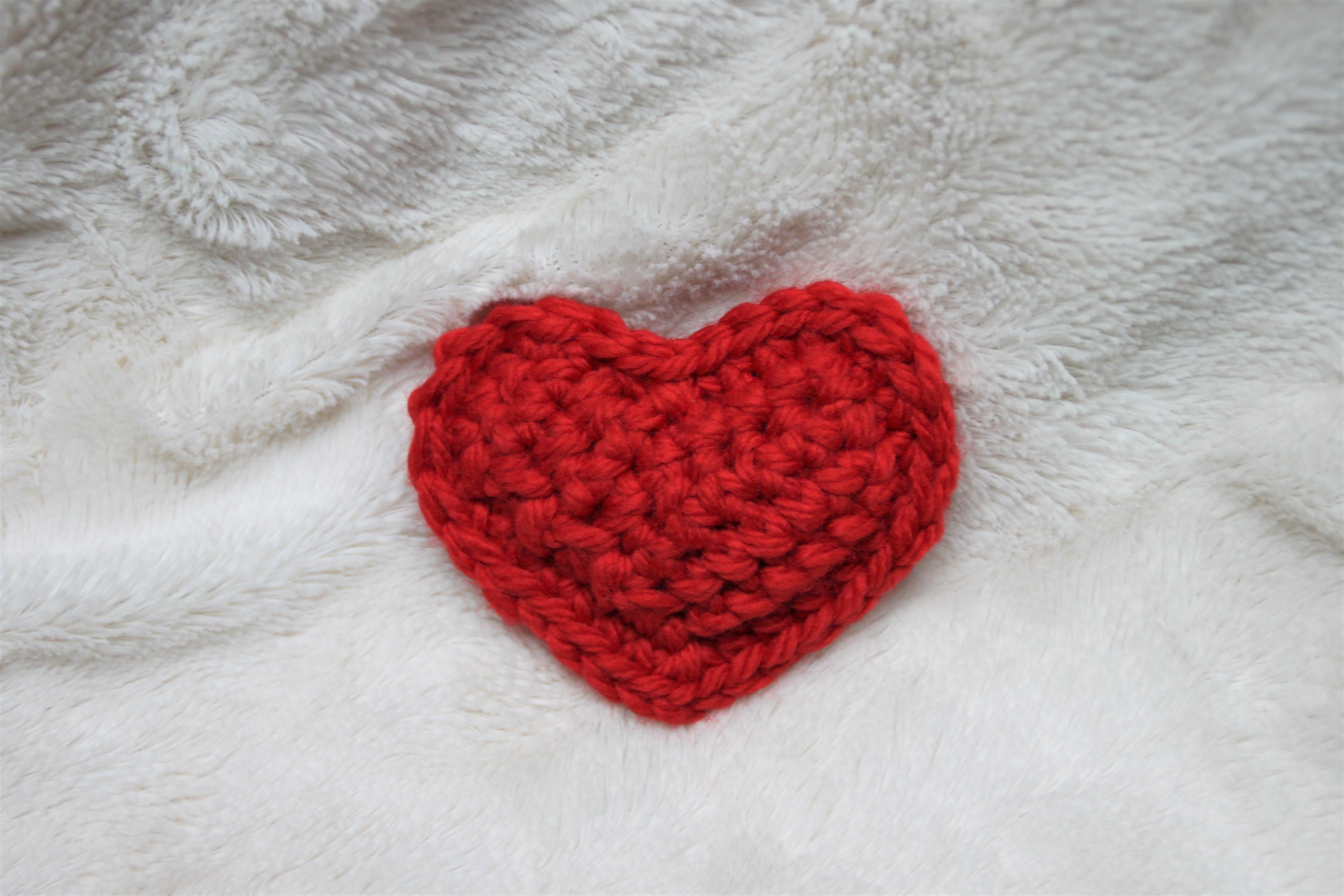 cœur rembourré au crochet