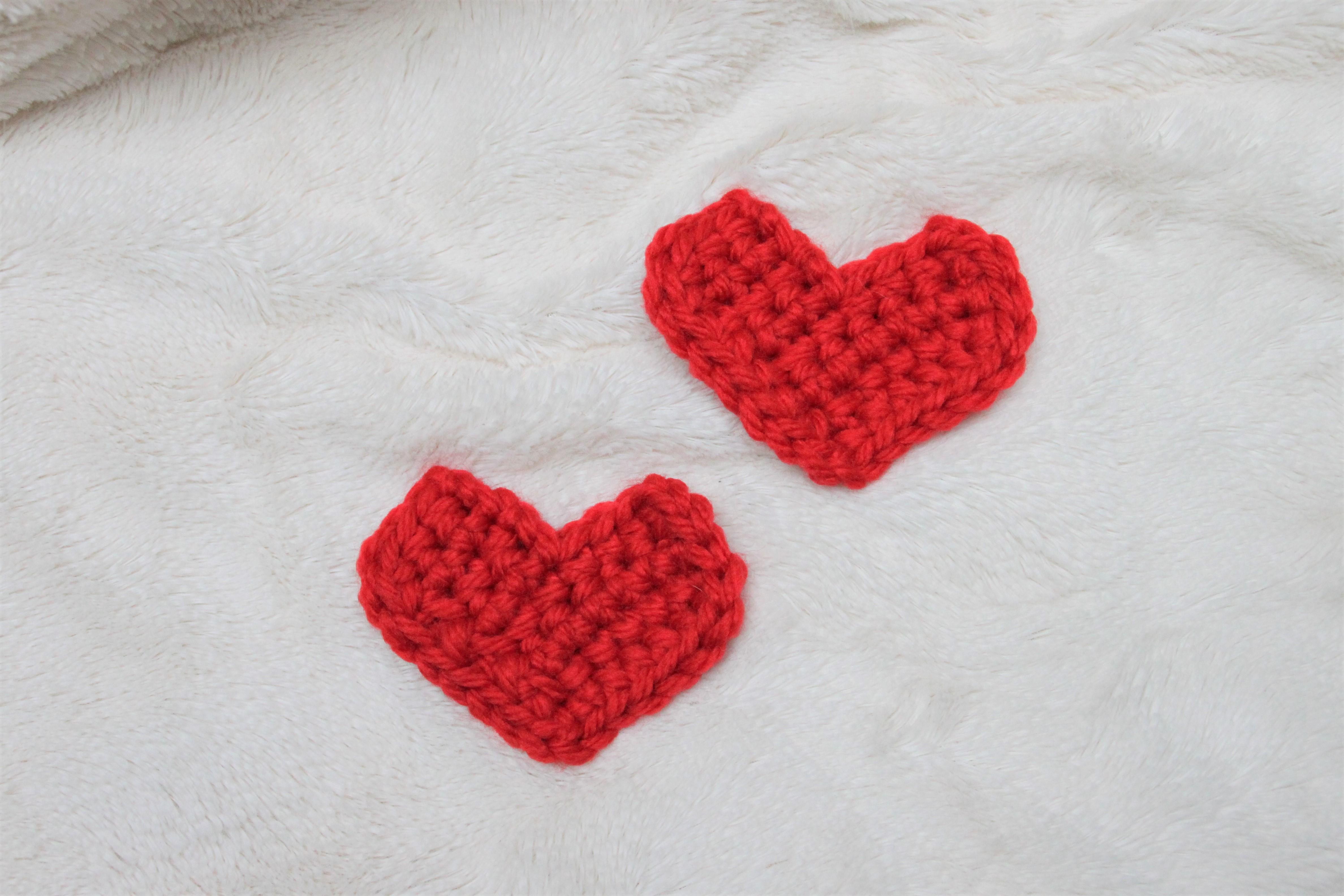 montage cœur au crochet