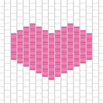 Diagramme du cœur en perles miyuki